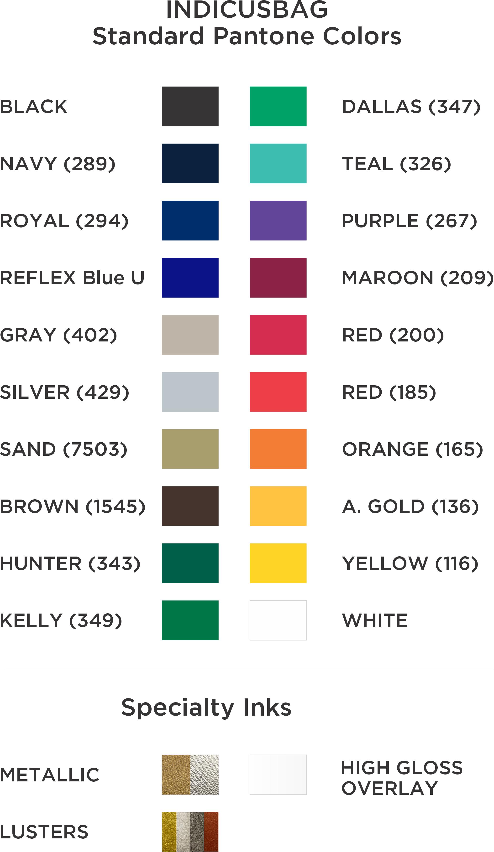 Std. Colors 2021